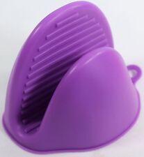 Guanto da forno in silicone da cucina resistente al calore isolare Pot Holder Viola