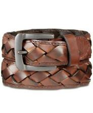 Levi's Braided Leather Belt Brown Mens Small 30-32 New