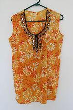 Ethnic short sleeves kaftan summer top for women size 12