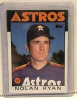 1986 Topps #100 Nolan Ryan Houston Astros Baseball Card