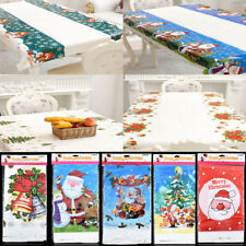 Modern Christmas Tree/Snowman/Santa/Xmas Bell Tablecloth Cover Cloth House Decor
