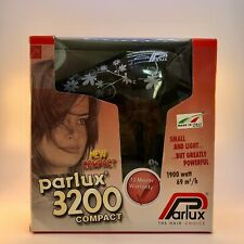 Parlux 3200 Flowers Hair Dryer - Black/Silver -New DAMAGED BOX