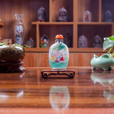 Inner Painting Snuff Bottle Chinese Antique Cute Kids Children are Play Together