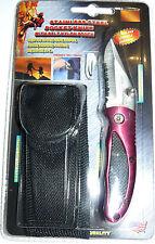 • Navaja Roja 5 cm de hoja / Red Stainless Steel Pocket Knife con funda