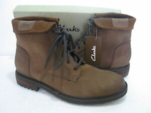 NEW MENS CLARKS MISTERTON SOFT LEATHER BOOTS SIZE 8 & 9