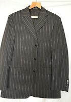 BURBERRY ~LONDON SMART ELEGANT GREY STRIPED SUIT JACKET/BLAZER UK 42 EU 52