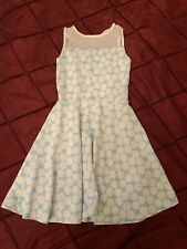 Necessary Objects Girls Dress Size S Blue And White Polkadot