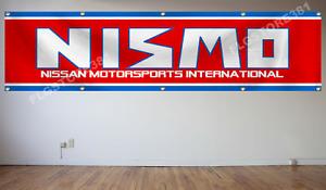 NISMO Flag Banner 2x8ft Japanese Nissan Motorsport Car Racing Large Banner