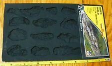 Woodland Scenics #1246 Creek Bed Rocks (Rubber Mold) Realistic, Fine Detail, Reu