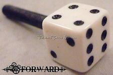 1 Tattoo Machine Contact Screw 8-32 American Thread Black and White Dice Forward