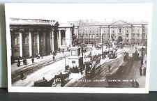 College Green Dublin Postcard Ireland 492 Lawrence Publisher vtg unused FREE SH