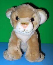 """Beige n Cream Cuddly Chosun Lion Cub Plush Standing Stuffed Animal EUC 10""""x14"""""""