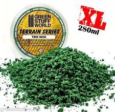 Espuma Follaje Fina - VERDE OSCURO - 280 ml (XL) arbustos y arboles modelismo