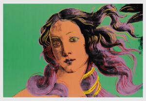 Andy Warhol print - Green Venus. Mint condition!