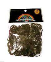 Loom Bands ✦ 600 Rubber Bands ✦ Loom Band S Clips ✦ White Black ✦ UK Store -