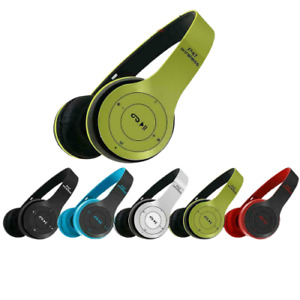 Cuffie bluetooth wireless senza fili ricaricabili usb stereo smartphone pc mp3