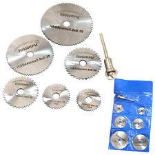 7pcs HSS Circular Wood Cutting Saw Blade Discs for Dremel Rotary Tool Mandrel BG