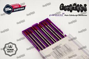 10Pc TIG WELDING TUNGSTEN ELECTRODES RED THORIATED 1.6/2.4mm PARWELD