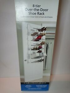 Mainstays  8 Tier Over The Door Shoe Rack New