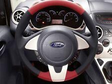 Genuine Ford Ka Leather Steering Wheel - Black/Red Leather / Red Bezel (1730353)