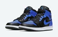 Nike Air Jordan 1 Mid Black Hyper Royal Blue 554724-077 Size 4-10