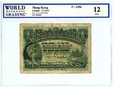 Hong Kong ... P-155b ... 1 Dollar ... 1-Jul-1913 ... *F+*