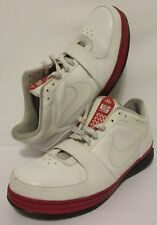 RARE🔥 Nike Zoom LeBron 6 VI Low White Varsity Red Black 354696-112 Mens Size 18