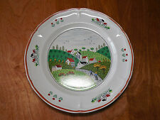 "Newcor Japan COUNTRY VILLAGE 627 Set of 4 Dinner Plates 10 5/8"" B"