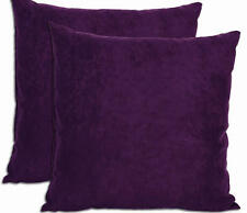 Throw Pillows Set of 2 Sofa Cushions Purple Microsuede Decor Home Couch