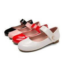 Women Girls Patent Leather Ankle Strap Mary Jane Oxford Casual Shoes Lolita Pump