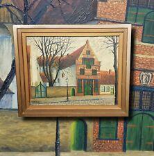 ALTE MÜNZE Friedrichstadt. Ölgemälde R. HENNINGSEN Nordfriesland Museum Gemälde