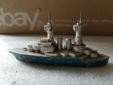 Vintage Diecast Slush Metal Naval Battleship 2 Chimneys France 4 1/4""