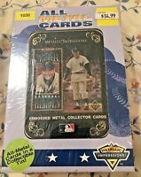 MICKEY MANTLE EMBOSSED METAL BASEBALL CARDS IN DECORATIVE TIN NEW SEALED