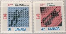 CANADA KANADA 1987 1031-32 1130-31 Winter Olympics 1988 Calgary Speed Skating **