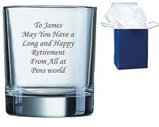 Personalised Engraved Whisky Tumbler Glass Wedding Birthday Best Man Gift