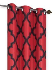 New Geometric Design Blackout Lined Window Curtain Grommet Panel/Valance MOZA