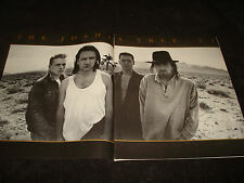 U2 1987 promo ad in desert for The Joshua Tree, Bono & Huey Lewis And The News