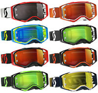 SCOTT PROSPECT MOTOCROSS GOGGLES with CHROME WORKS MIRROR LENS mx bike tear off
