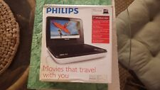 "Philips PET741W/37 White Widescreen 7"" Car Portable DVD Player Stereo Speaker"