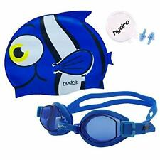 HYDRO Swimming Goggle, Ear Plug & Fish Cartoon Cap, Single & 2 Pack For Kids