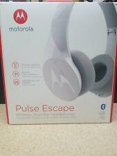 Motorola Pulse Escape Bluetooth Wireless Over-Ear Headphones White W/Mic SH012WH