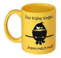Der frühe Vogel kann mich mal Tasse Kaffeetasse Frühstück lustig Keramik Becher