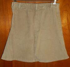 Tan Land's End School Uniform Corduroy Skirt Size 5 Back to School Uniform Cloth