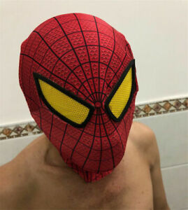 Amazing Spider-Man 2/1 Mask/Gloves/Web Shooter Halloween Cosplay Decorate Toy