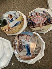 Lot Of 3 Shirley temple Plates Danbury Mint