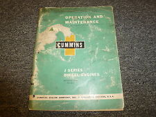 Cummins J4 J6 JT6 JF6 JS6 JN6 JNS6 JT6 Engine Owner Operator Maintenance Manual