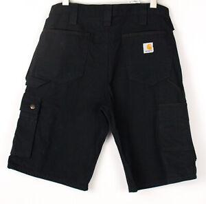 CARHARTT Men Casual Cargo Chino Shorts Bermuda Size W32 BDZ1331