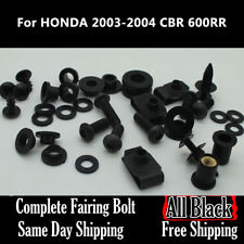 NT Complete Black Fairing Bolt Body Screw for HONDA 2003 2004 CBR 600RR F5 Ta06