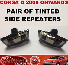 VAUXHALL CORSA D PAIR SMOKED TINTED SIDE REPEATERS WING INDICATORS SXI SRI VXR