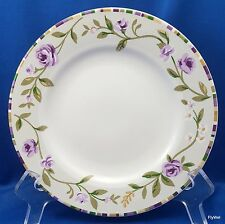 "Laura Ashley Grapefields Salad Plate 8"" Purple Floral Band"